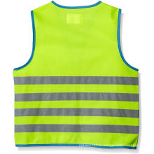 Child safety vest with 4 refletive stripes