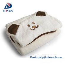 90*90cm 500gsm 100% bamboo fiber bath towel with animal hooded