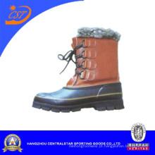 2013 Men′s neve botas com couro superior