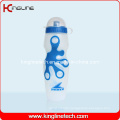 Plastic Sport Water Bottle, Plastic Sport Bottle, 650ml Plastic Drink Bottle (KL-6607)