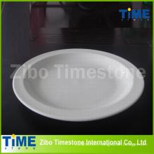 Plaque de pizza en porcelaine fine et blanche (TM060503)