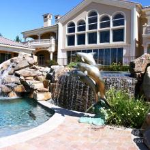 décoration extérieure métal artisanat bronze dauphin statues pour piscines