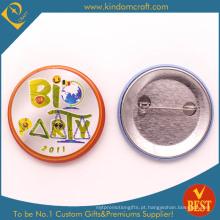 Bio emblema do botão da lata do partido com o Pin de segurança em liga de zinco