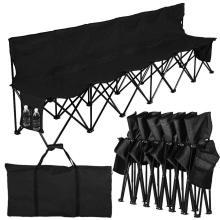 6 Seats Portable Sideline Folding Bench