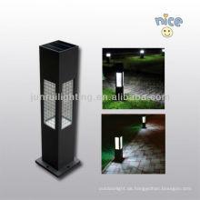 Aluminium/Edelstahl solar Gartenleuchte mit Glas Lampenschirm und Ce & RoHs-Zertifikat
