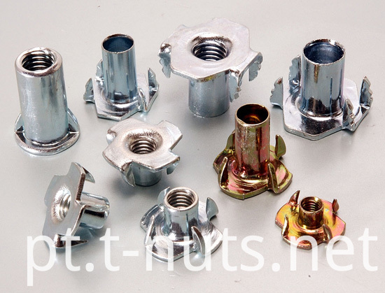 Embbed Stainless Steel four pronged T Nuts