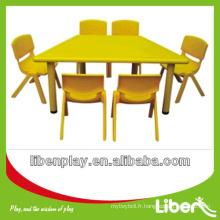 Garderie pour enfants Table en forme de T Tables et chaises pour enfants Série utilisation scolaire LE.ZY.017