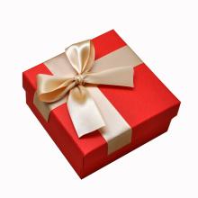 Boîte faite sur commande polychrone d'emballage de cadeau de papier avec le ruban en soie