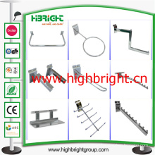 Chromed Steel Waterdrop Display Hooks for Shop Retail Gondola Shelves