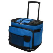 Collapsible Reusable Trolley Picnic Bag  Outdoor Foldable trolley cooler bags picnic With Telescoping Handle and Wheels