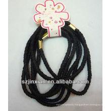 elastic cord loop with metal end used in hairband