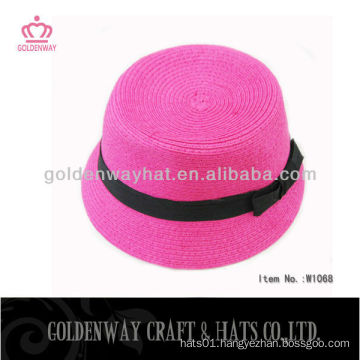 Womens Pink Party Hat with Ribbon