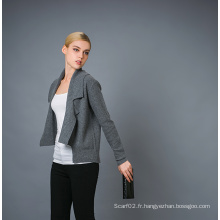 Lady's Fashion Cashmere Blend Cardigan 17brpv016