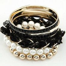 Moda vários braceletes laço punk baratos braceletes pulseiras