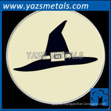 customize Halloween witch's hat badge