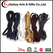 Eco-Friendly Colored Wateroof 100% Cotton Flat Waxed Shoelaces