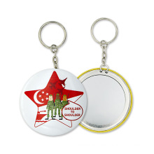 Colorful Model Metal Make up Mirror with Keychain