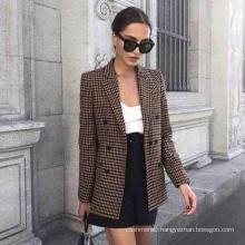 New style customized check wool blazer