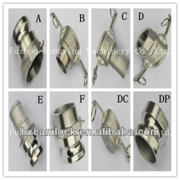 Quick acting couplings stainless steel