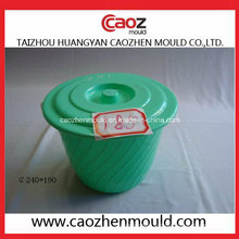 Godet à eau plastique usagé avec moulage par injection de couvercle en stock