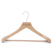 Boutique antique hanger wooden clothing hanger with ribbed bar