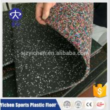 Alfombra de piso de goma no tóxica de alta densidad del gimnasio de Yichen