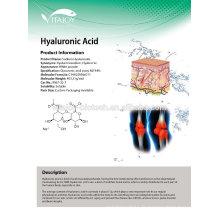 1% de faible poids mêlant de qualité cosmétique Solution d'hyaluonate de sodium / acide hyluronique
