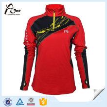 Atacado Sublimação Mulheres Running Shirts Sportswear