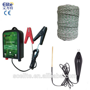 10 KM & 0.6 joules solar electronic fence energizer for farm and ranch