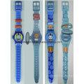 Reloj barato de los niños de la venda de la historieta del silicón 3D para el regalo promocional