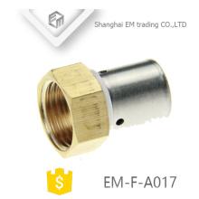 "EM-F-A017 1/2 ""Innengewinde Messing Nippel Rohrverschraubung Kompression"
