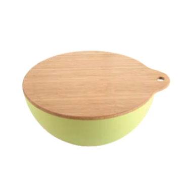 Eco-friendly Bamboo Fiber Salad Bowl Set with Lid