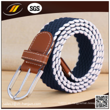Unisex Canvas Woven Men Elastic Stretch Cinturón de cintura