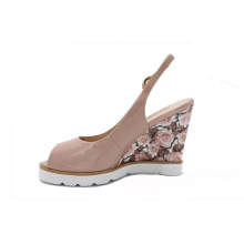 china wholesale new model peep-toe sandals women wedge shoes