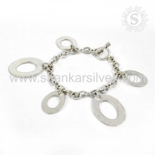 Mulheres espetaculares Moda Sterling Silver Jewelry Bracelet 925 Silver Jewelry Exportador