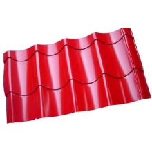 Folha de aço do metal ondulado da cor para o painel de telhado / Gi / PPGI