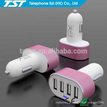 Promocional Adaptador de Carregador de carro personalizado 4USB para iPhone