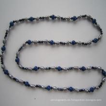 2015 Collar de agua dulce largo de la perla y del cristal de la alta calidad