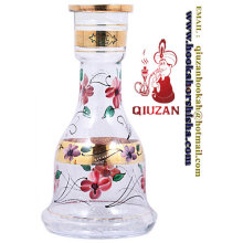 Big Size Beautiful White Printing Hookah Bottle