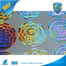ZO LO top selling brand protection hologram sticker with customized design scratch code for security sticker