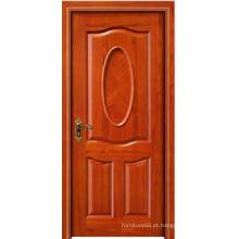 Venda quente de alta qualidade porta de madeira sólida com design de moda