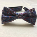 Create Your Own Brand Jacquard Polyester Paisley Pre-Tied Ribbon Bow Tie