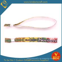 Günstige Art und Weise bunter Hitzeübertragung gedrucktes Wristband für Verkauf