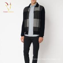 Кашемир вязаный кардиган пальто мужчины кардиган стиль куртка