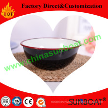 14*7.5*6cm Dimension Cast Iron Dinnerware Enamel Shallow Bowl