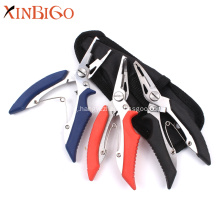 Custom Soft Rubber Handle Fishing Pliers Scissors