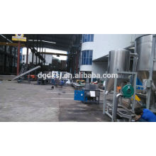 PE PP film two stage side force feeding Plastic Recycling granulator machine