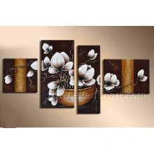 Home Decoration Canvas Art Beautiful Flower Oil Painting on Canvas (FL4-115)