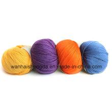 Hilo de la bola de seda mezclado cachemira caliente de la venta con diverso color