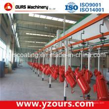 Ligne automatique de revêtement de poudre pour des produits en métal